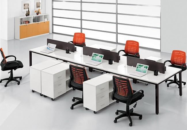 钢木结合办公桌-01