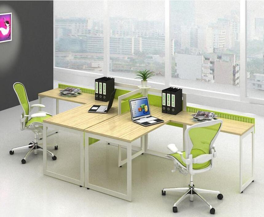钢木结合办公桌-02