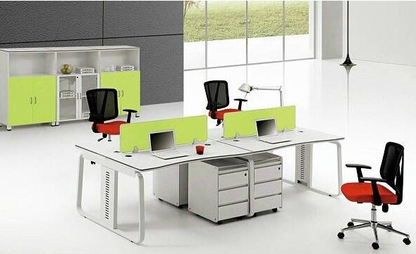 钢木结合办公桌-04