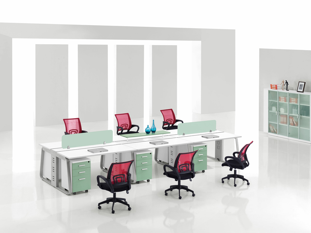 钢木结合办公桌-05