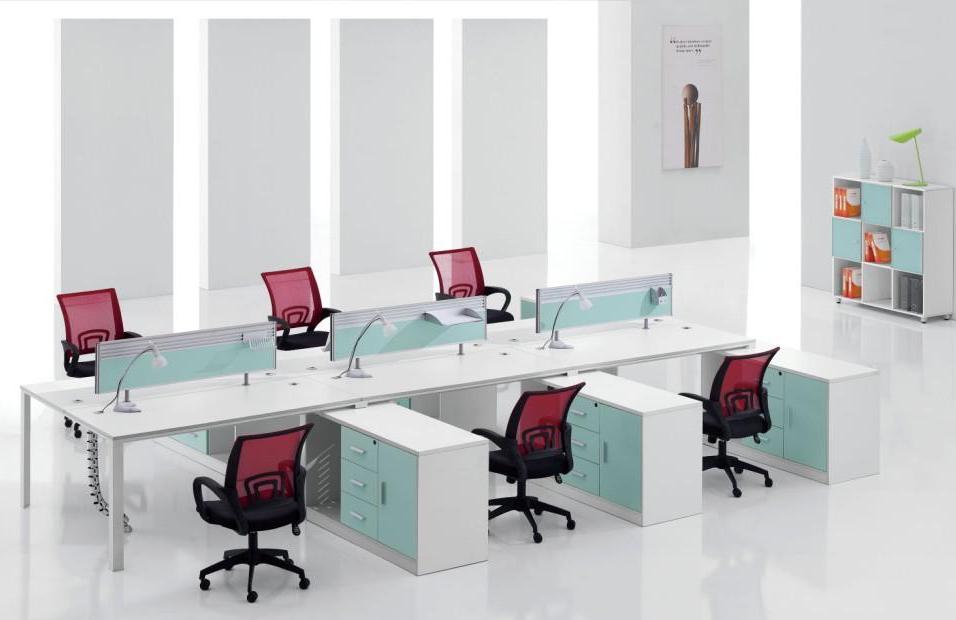 钢木结合办公桌-06