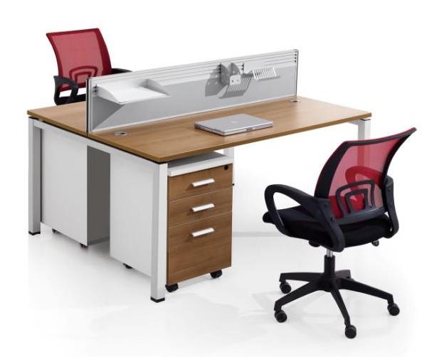 钢木结合办公桌-08