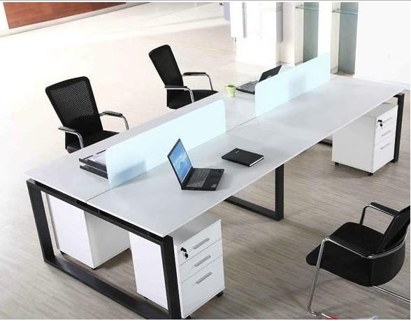 钢木结合办公桌-10
