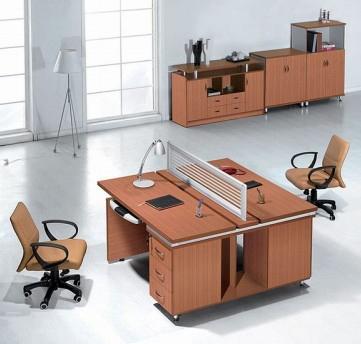 钢木结合办公桌-11