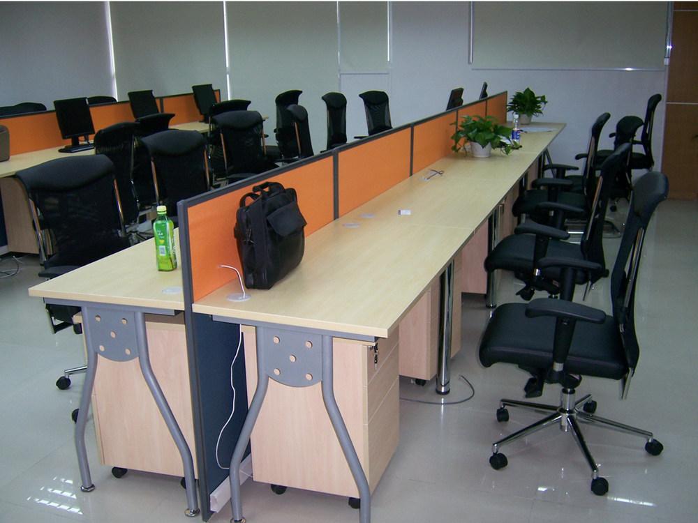 钢木结合办公桌-12