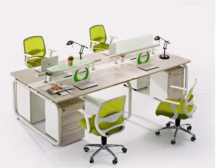 钢木结合办公桌-14