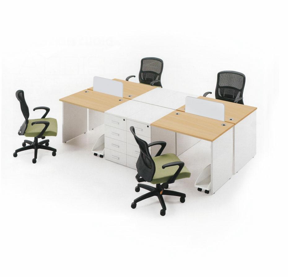 钢木结合办公桌-15